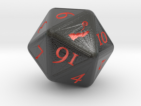D20 D&D Wizard's Dice in Glossy Full Color Sandstone