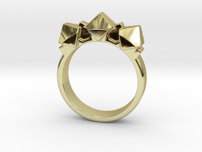 Pyrite ring in 18k Gold Plated Brass: 5.5 / 50.25