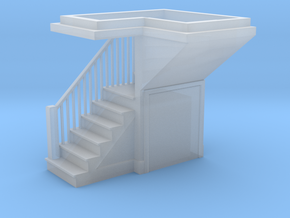 HO Scale staircase 3 in Smoothest Fine Detail Plastic