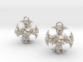 IF Kleinian Earrings in Rhodium Plated Brass
