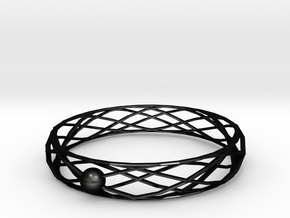 Interlocking in Matte Black Steel