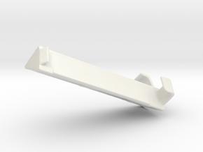 Blind Valance Return 04A in White Premium Versatile Plastic
