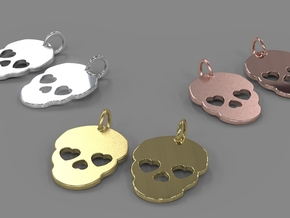 Cute Skull in Polished Brass