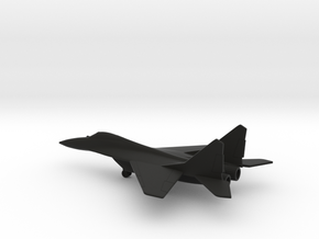 MiG-29 Fulcrum in Black Natural Versatile Plastic: 1:200