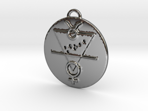 Taurus Talisman in Fine Detail Polished Silver