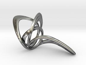 Looplooploop Ring Size US 8.0 in Polished Silver
