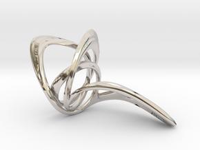 Looplooploop Ring Size US 8.0 in Rhodium Plated Brass