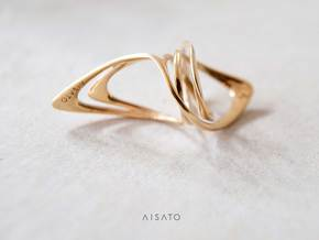 Looplooploop Ring Size US 8.0 in 18k Gold Plated Brass
