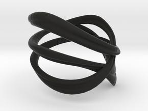Milkyway Ring size US4.0 in Black Natural Versatile Plastic