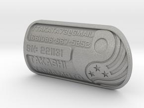 Bicycle Badge (straight tube): Brompton in Aluminum