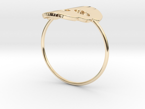 Cute Skull Ring in 14K Yellow Gold