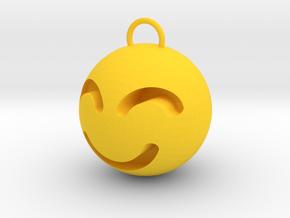 smile in Yellow Processed Versatile Plastic: Small