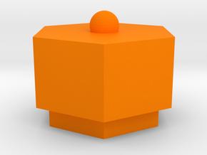 box in Orange Processed Versatile Plastic