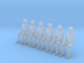 Pilot 01 pose seated.HO Scale (1:87) in Smoothest Fine Detail Plastic
