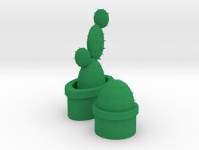 cactus in Green Processed Versatile Plastic