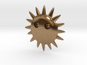 Sun ornaments in Natural Brass