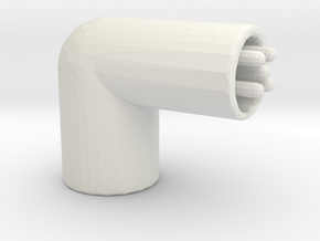 Yacht horn in White Natural Versatile Plastic: Small