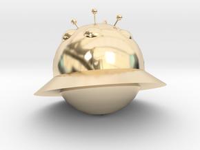 Alien ornaments in 14k Gold Plated Brass