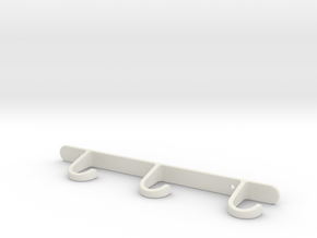 Cup hanger in White Natural Versatile Plastic