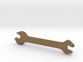 扳手.STL in Polished Bronze: Medium