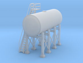 'N Scale' - Elevated 10'x24' Oil Tank in Smooth Fine Detail Plastic