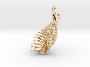 IF Little Fractal Wing in 14k Gold Plated Brass