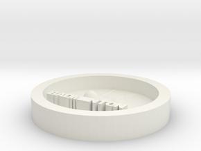 DIY key ring badminton in White Natural Versatile Plastic
