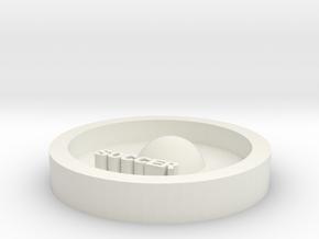 DIY key ring soccer in White Natural Versatile Plastic