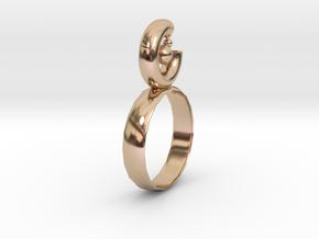 Geometric circle in 14k Rose Gold