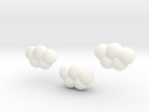 Blossoming cloud magnet in White Processed Versatile Plastic