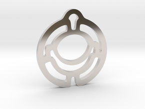 """It simple"" Pendant in Rhodium Plated Brass"