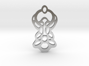 Flowered Pendant in Natural Silver