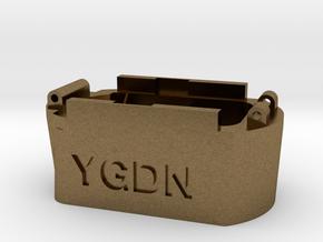 Glock hi capacity magazine to Hi-Capa AEP adapter in Natural Bronze