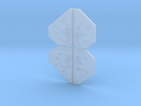 Armor Plates - Fleur-de-lis in Smooth Fine Detail Plastic