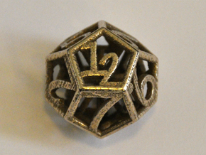 D12 Balanced - Numbers Only in Polished Bronzed Silver Steel
