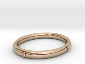 Bangle (OVAL) Large in 14k Rose Gold Plated Brass
