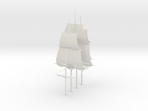 1/300 Frigate Mast Set V2 in White Natural Versatile Plastic