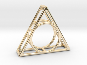 Simply Shapes Pendants Triangle in 14K Yellow Gold