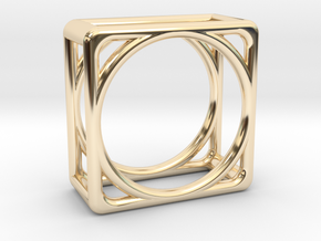 Simply Shapes Pendants Cube in 14K Yellow Gold