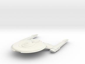 Federation Nimitz Class IV  Destroyer in White Natural Versatile Plastic
