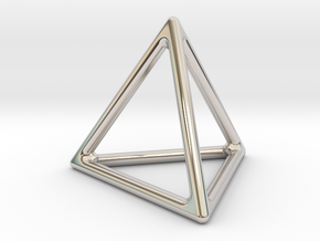 Simply Shapes Homewares Triangle in Rhodium Plated Brass