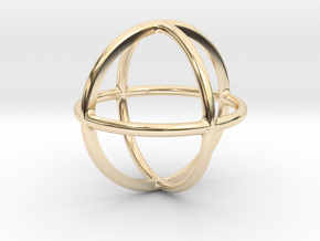 Simply Shapes Homewares Circle in 14k Gold Plated Brass