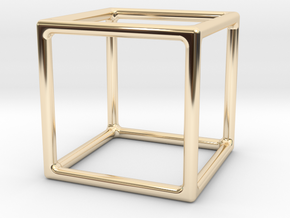 Simply Shapes Homewares Cube in 14k Gold Plated Brass