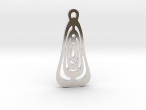 """No way out"" Pendant in Rhodium Plated Brass"