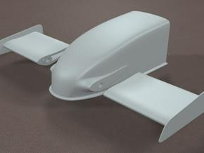 1/8 Scale Dragster Nose in White Natural Versatile Plastic