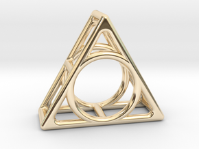 Simply Shapes Rings Triangle in 14k Gold Plated Brass: 3.25 / 44.625