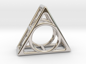 Simply Shapes Rings Triangle in Rhodium Plated Brass: 3.25 / 44.625