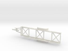 1001 Langmaterialanhänger HO in White Natural Versatile Plastic: 1:87