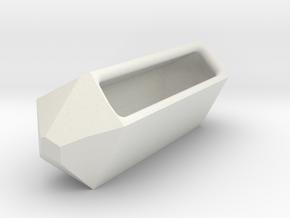 Go Geometric Homeware Keeper in White Natural Versatile Plastic