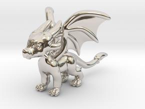 Cynder the Dragon Pendant/charm in Platinum